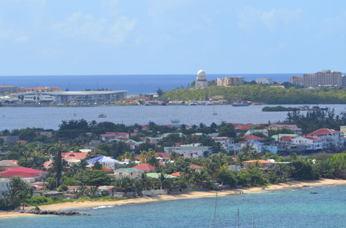 view of princess juliana airport from marigot